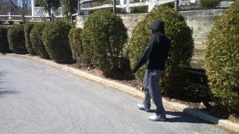J walking