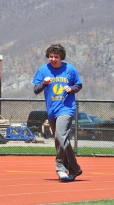J running at the Special Olympics this year. Photo courtesy of Ken Wickiser